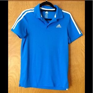 Adidas polo style blue youth shirt